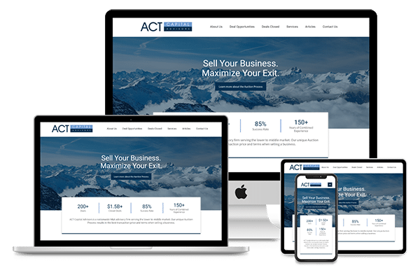 Merger website design ideas