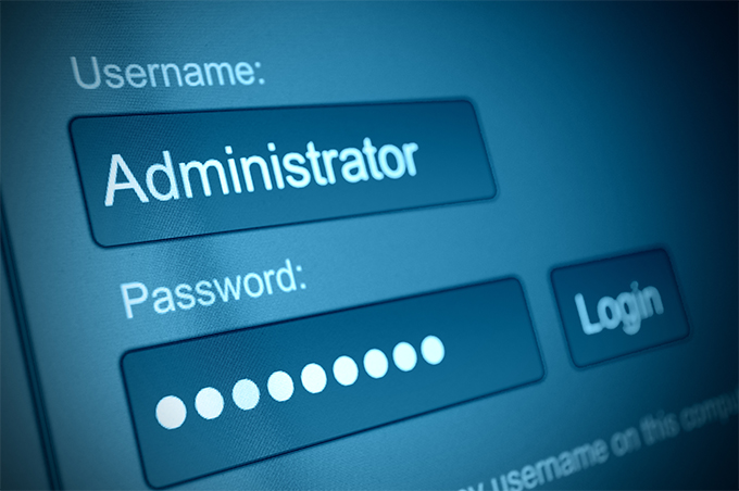 Never use admin as a username