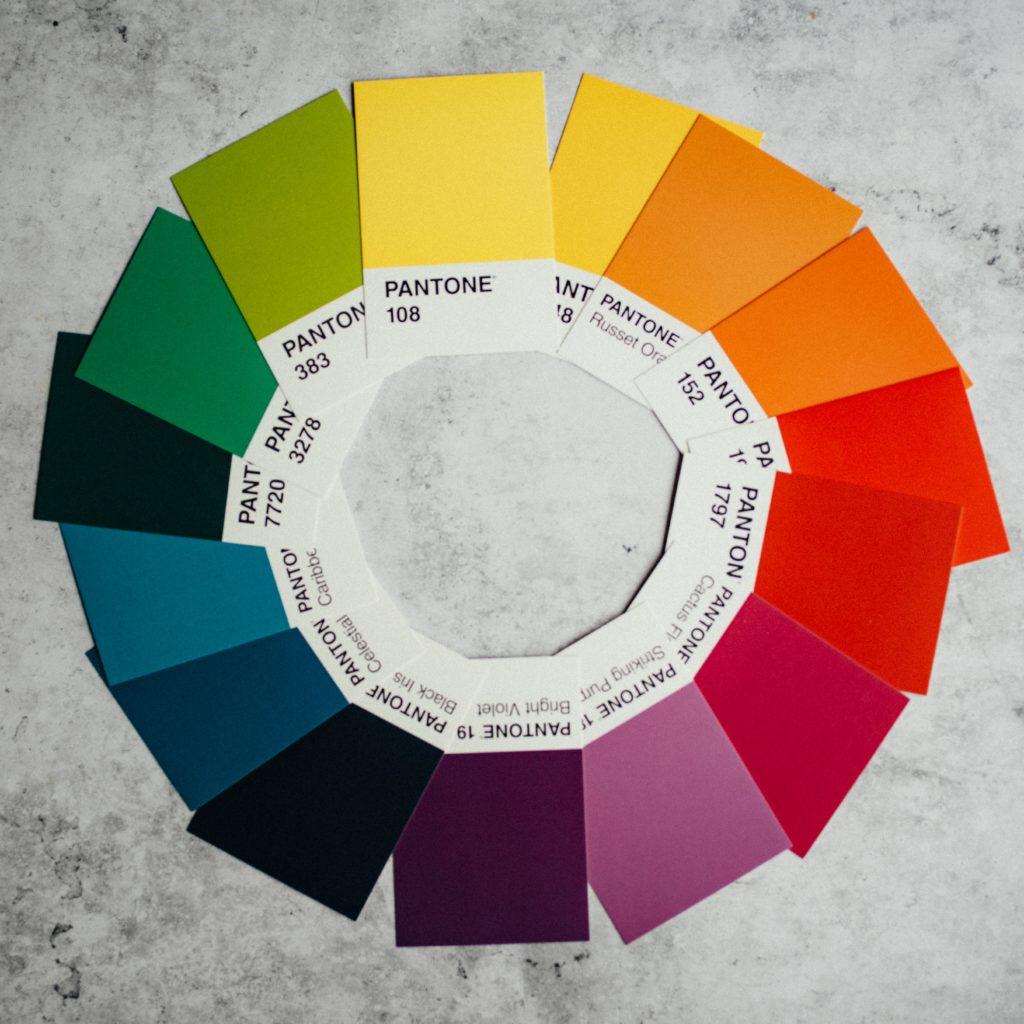 Color wheel for website color scheme