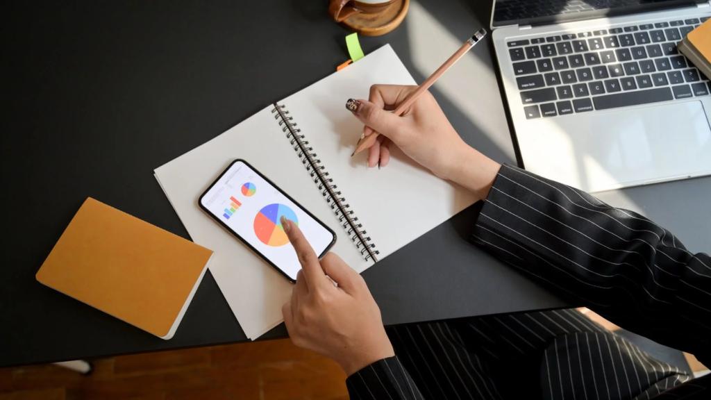 web designer using her pad to draw sketch mockup