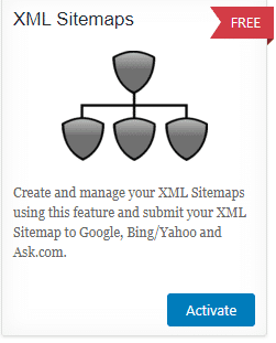 screenshot of the xml sitemaps from all in one seo pack